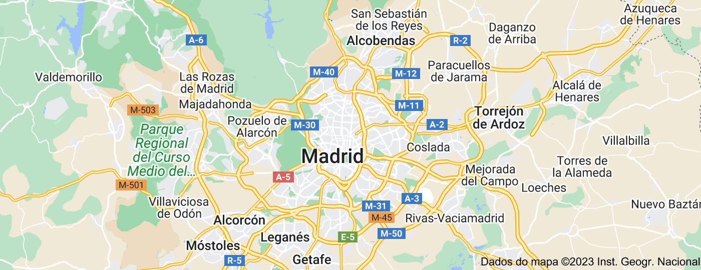 Location of Madrid