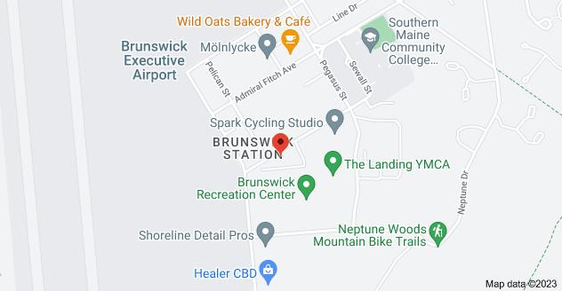 Map of 8 Venture Ave, Brunswick, ME 04011