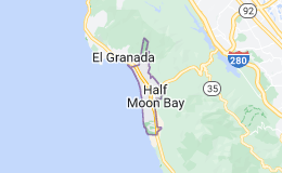Map of Half Moon Bay