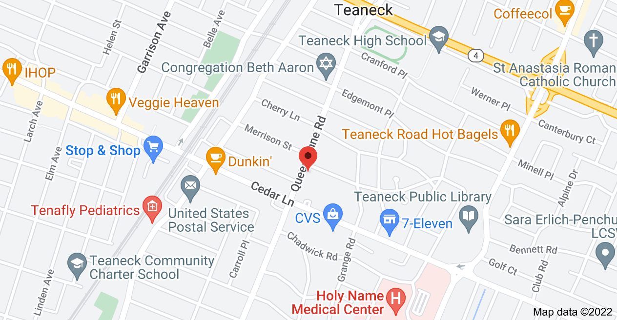 Map of 835 Queen Anne Rd, Teaneck, NJ 07666