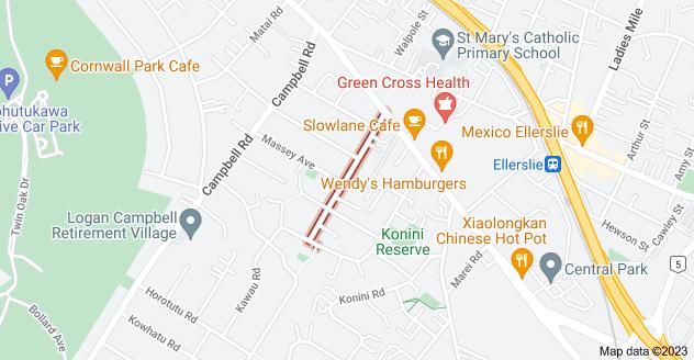 Location of Garland Road