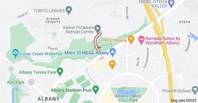 Location of Mills Lane