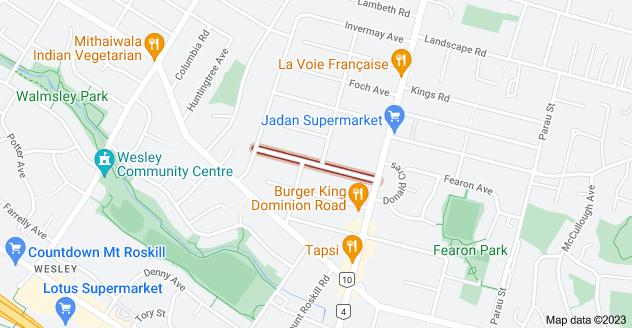 Location of Louvain Avenue