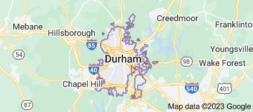 Map of Durham, North Carolina