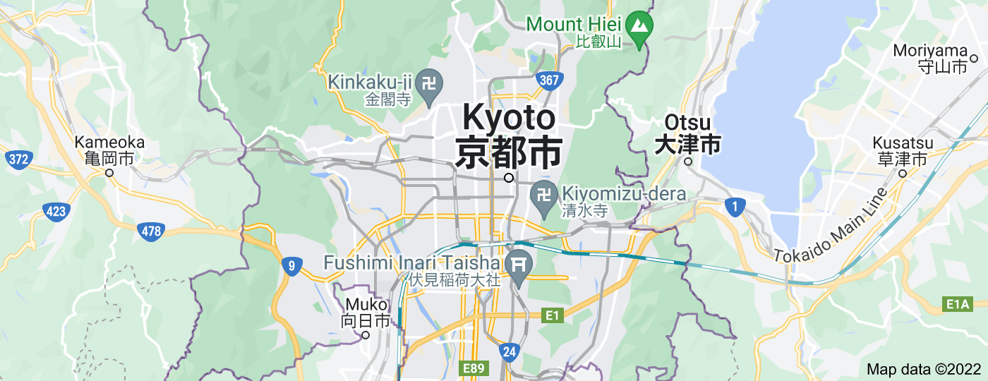 Location of Kyoto