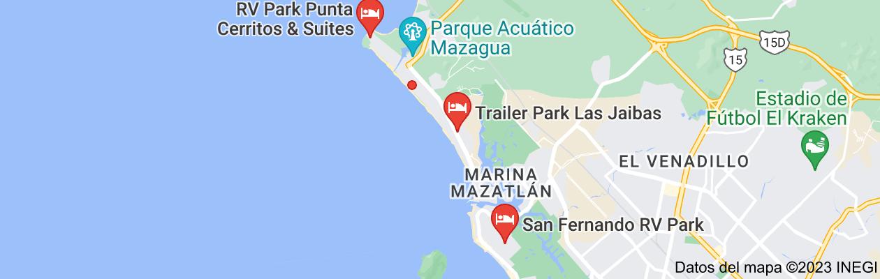 Mapa de rv parks in mazatlan