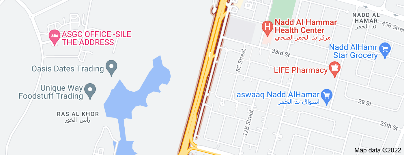Location of Nad Al Hamar Road