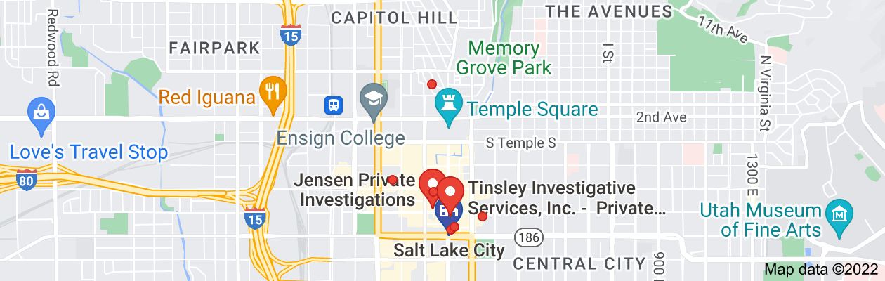 Map of private investigator salt lake city