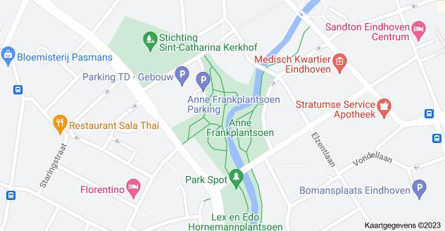 Kaart van Anne Frankplantsoen, Eindhoven