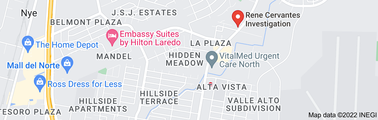 Map of private investigator laredo tx