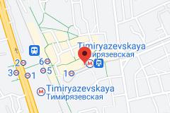 Location of Timiryazevskaya