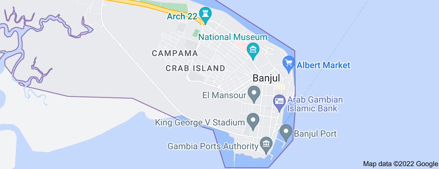 Location of Banjul