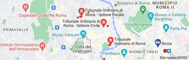 Mappa di: tribunale di roma