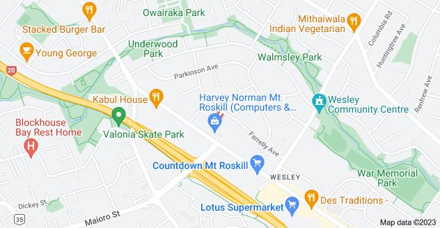 Location of Betts Avenue