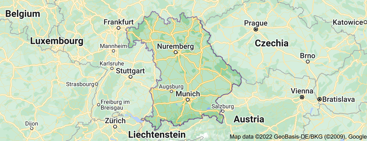 Location of Bavaria