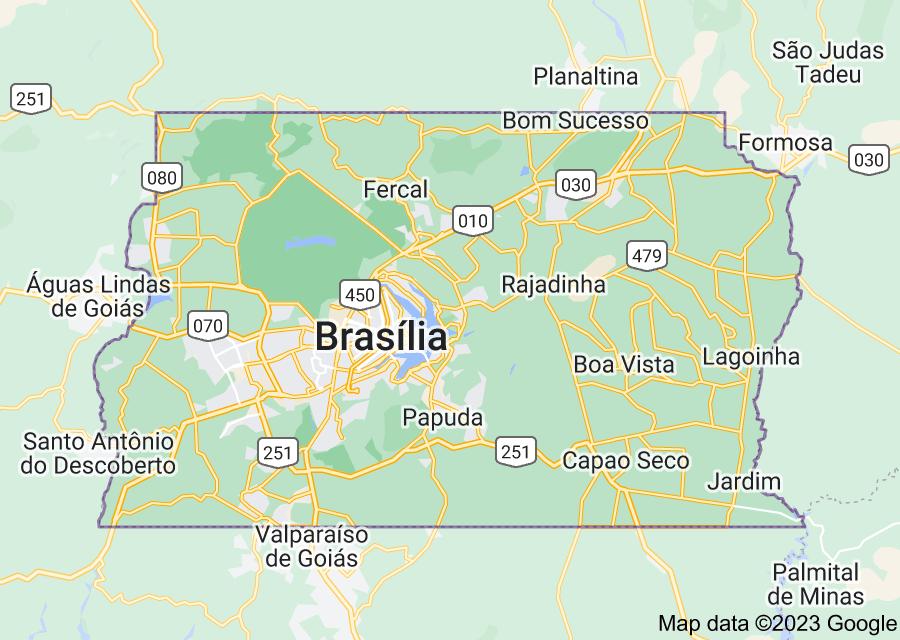 Location of Brasília