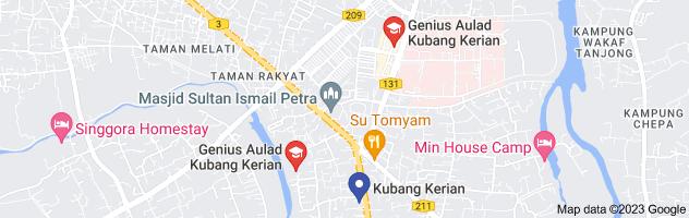 Map of genius aulad kubang kerian