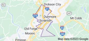Map of Scranton