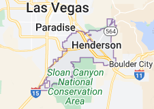 Map of Henderson, Nevada