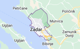 Kaart van Zadar