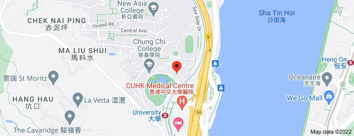 Location of The Chinese University of Hong Kong