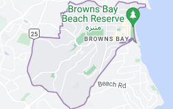 Location of Browns Bay
