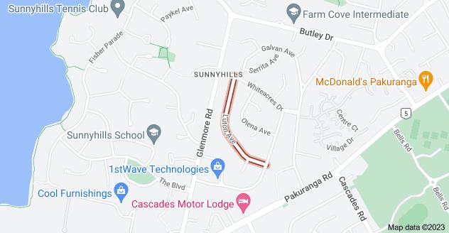 Location of Luton Avenue