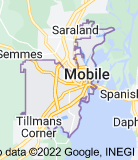 Map of Mobile, Alabama