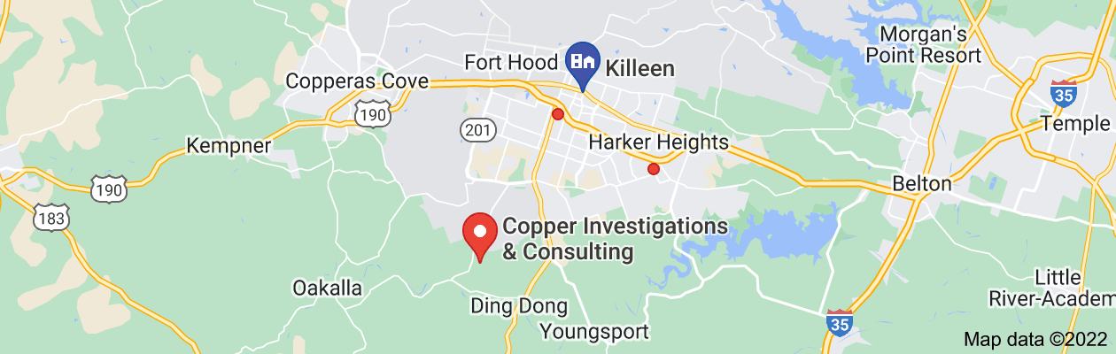 Map of private investigator Killeen tx