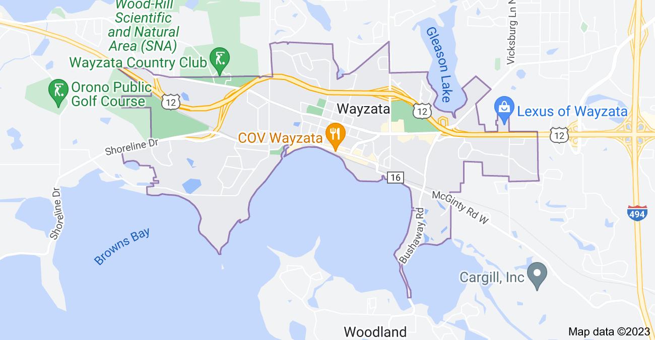 Map of Wayzata, MN 55391