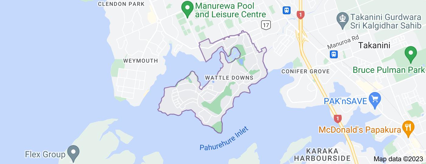 Location of Wattle Downs