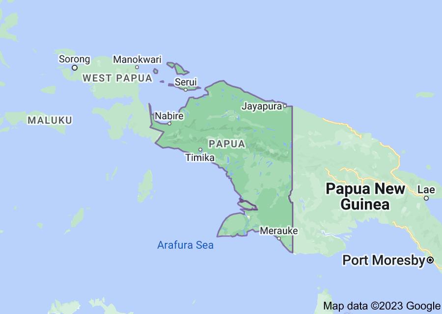 Location of Papua