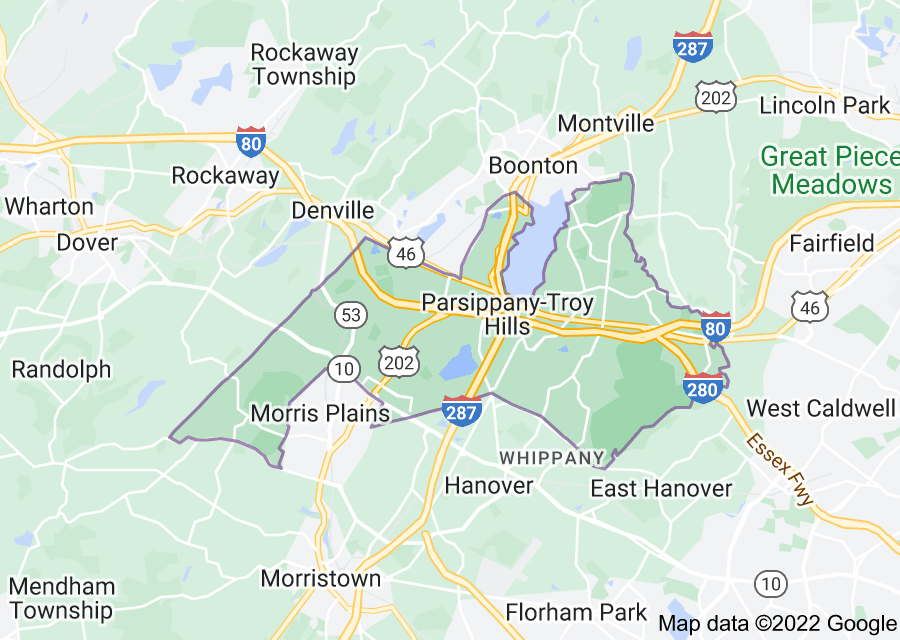 Location of Parsippany-Troy Hills