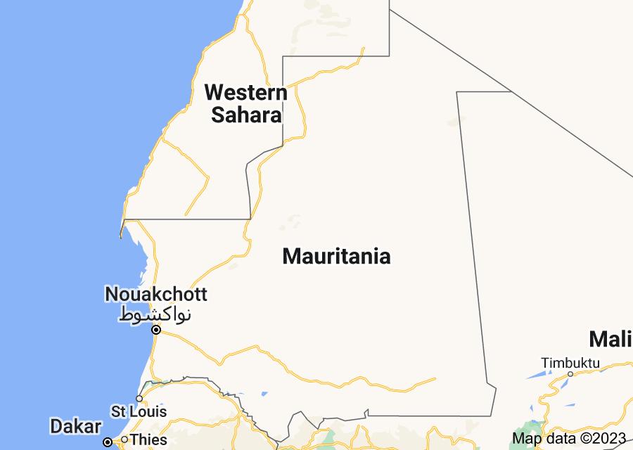 Location of Mauritania