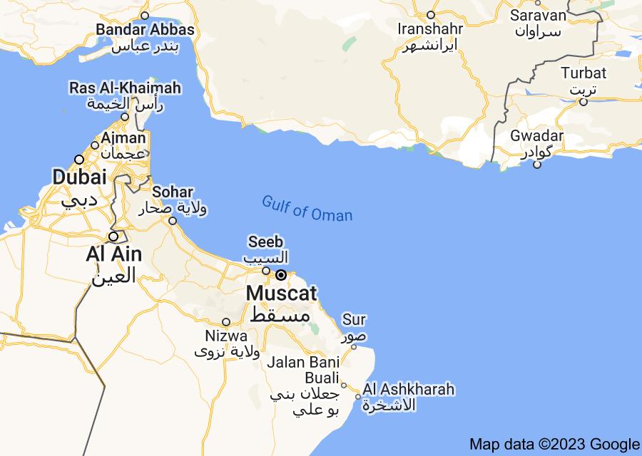 Location of Gulf of Oman