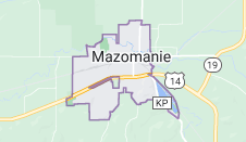 Map of Mazomanie Wisconsin