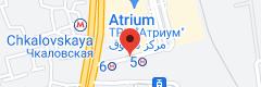 Location of Chkalovskaya