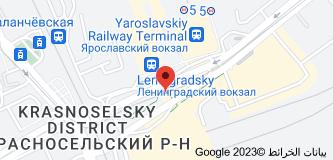 Location of Komsomol'skaya