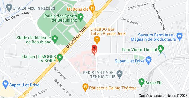 103 Avenue Montjovis, 87100 Limoges: carte