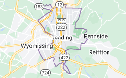 Map of Reading, Pennsylvania