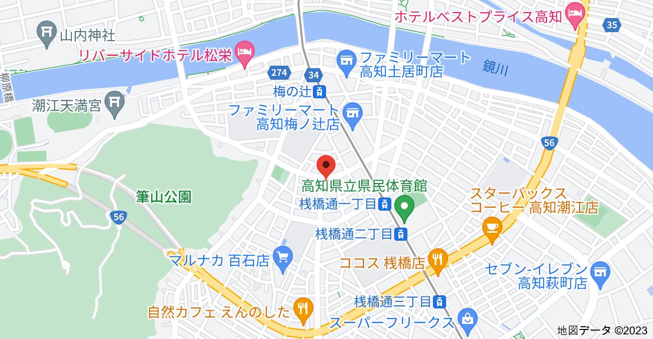 〒780-8015 高知県高知市百石町1丁目8−12の地図