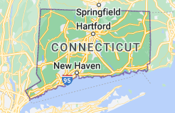 Location of Connecticut
