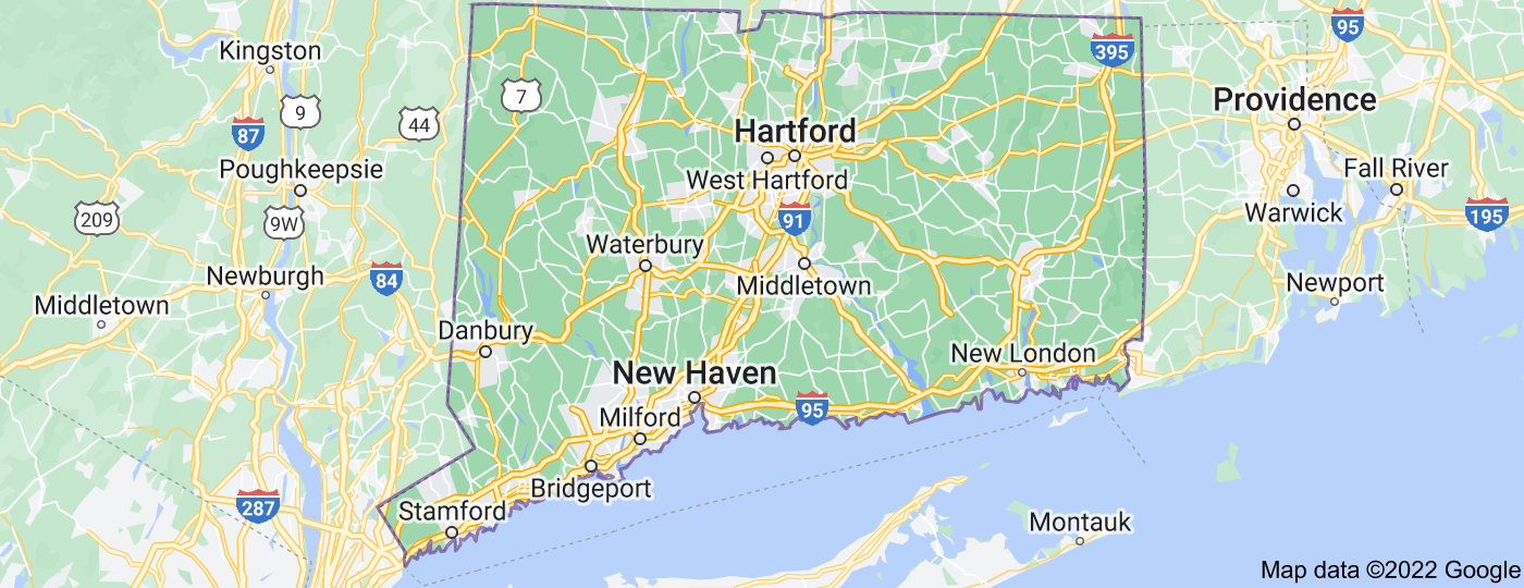 Location of Connecticut