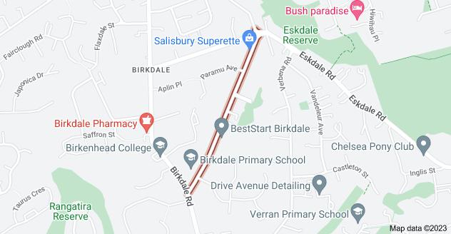 Location of Salisbury Road