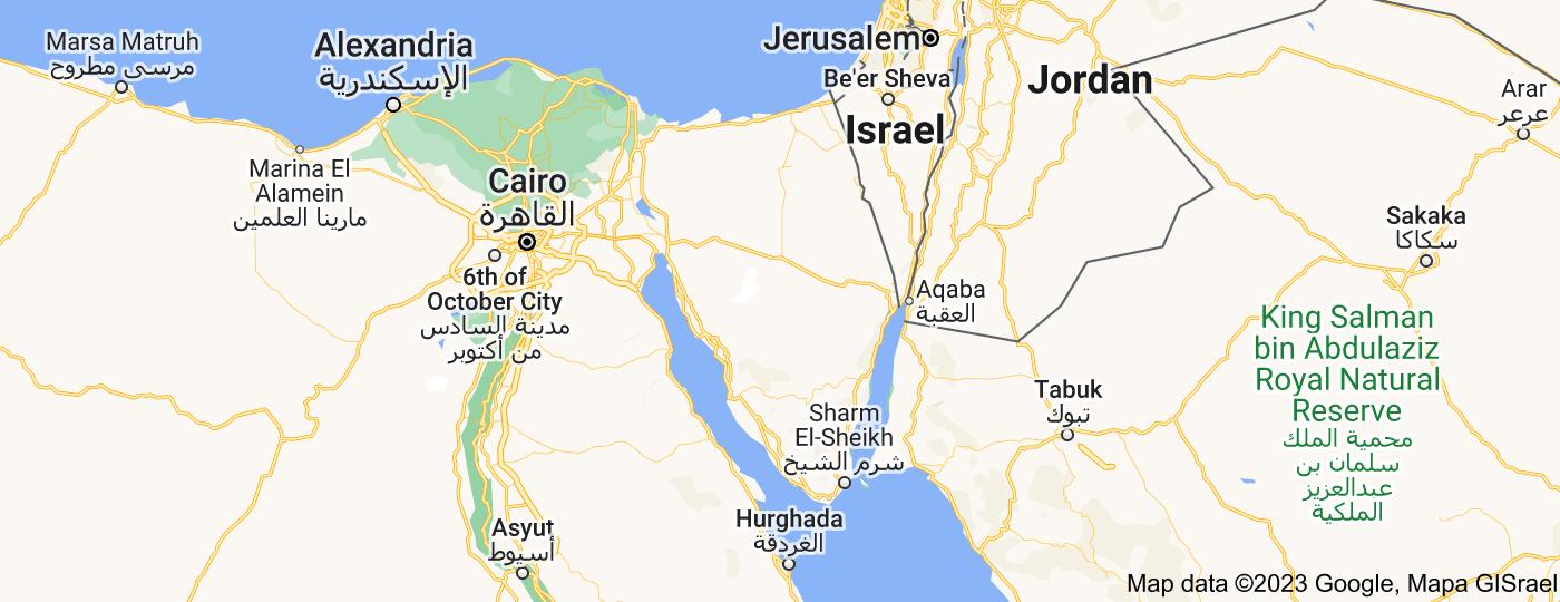 Location of Sinai Peninsula