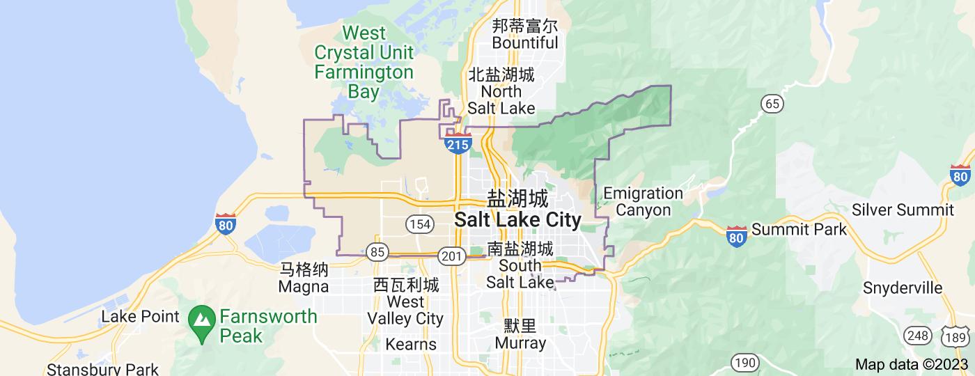 Location of 盐湖城