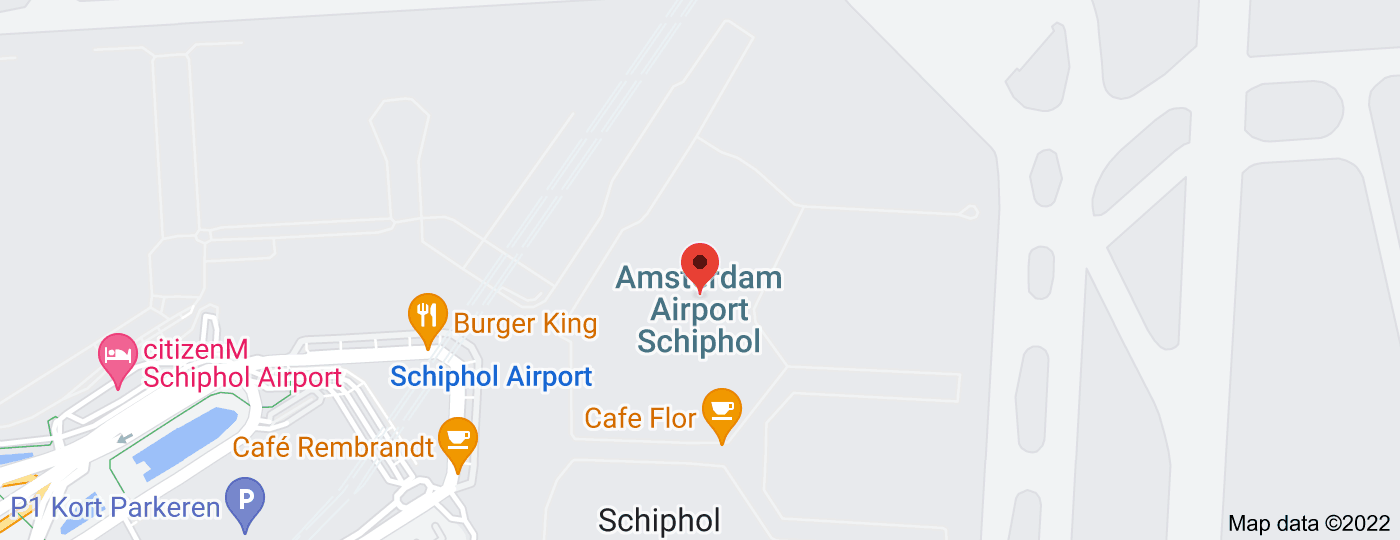 Location of Amsterdam Airport Schiphol