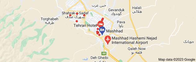 Map of مشهد تهران