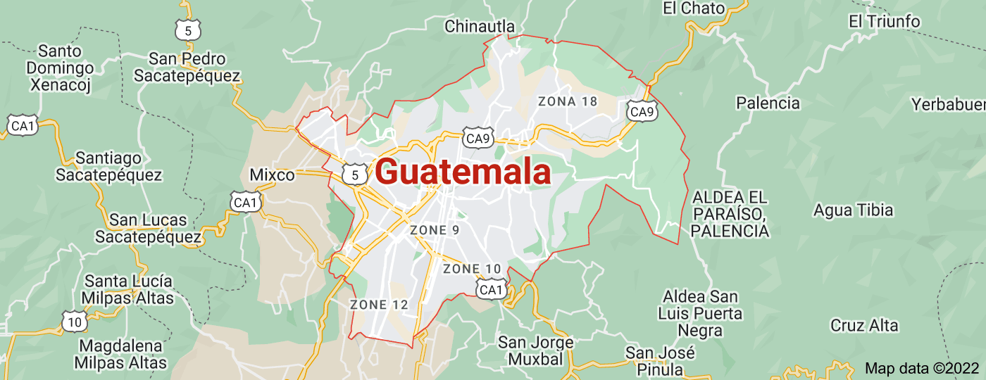 Location of Guatemala City