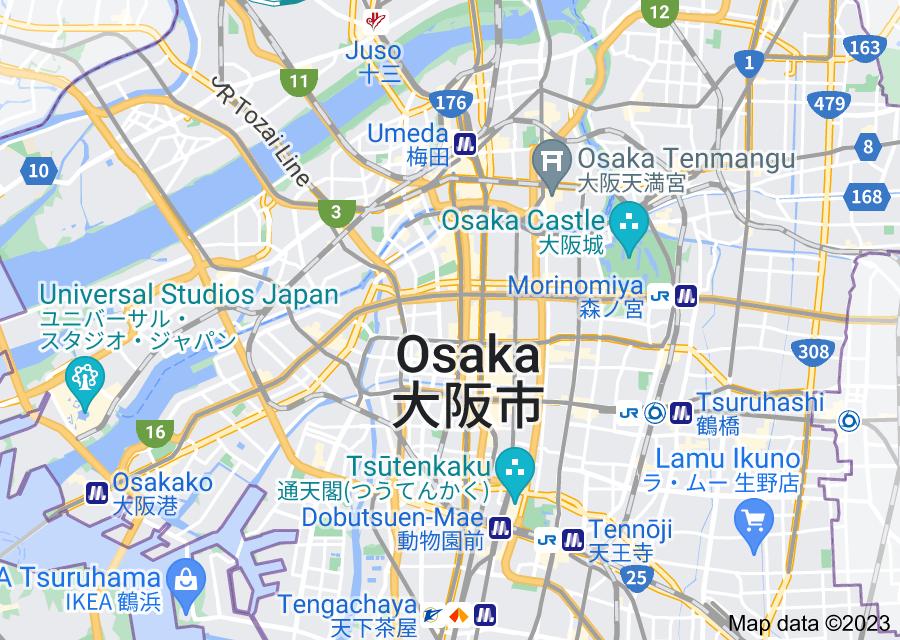 Location of Osaka